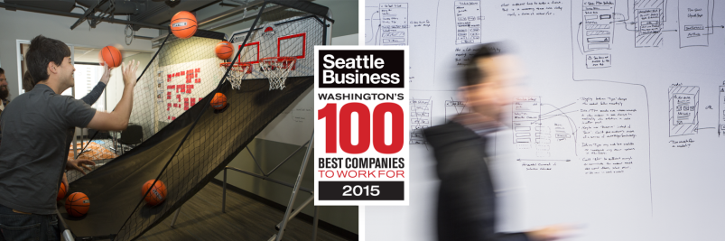 seattle business magazine 100 best companies to work for 2015 - ux design and development company