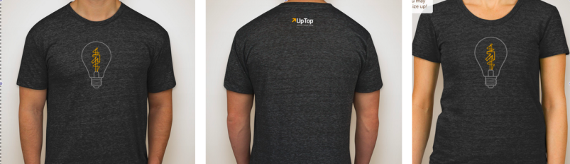 t-shirt design contest - uptop - ux design and web and mobile development